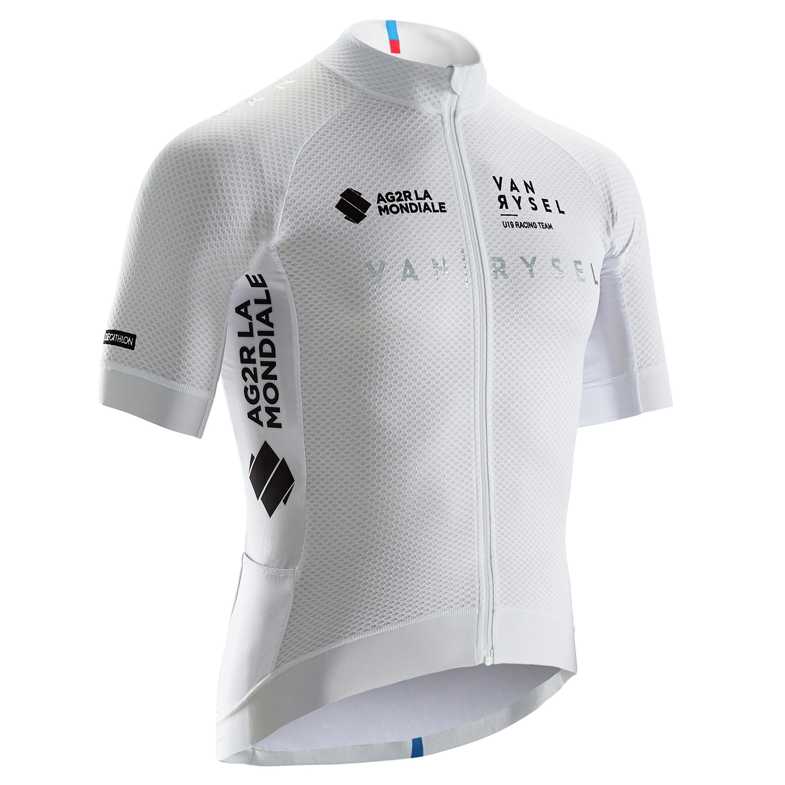 Tricou ciclism Alb Bărbați