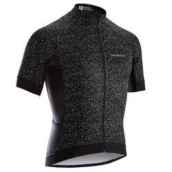 Fietsshirt zomer heren wielrennen zwart dripping