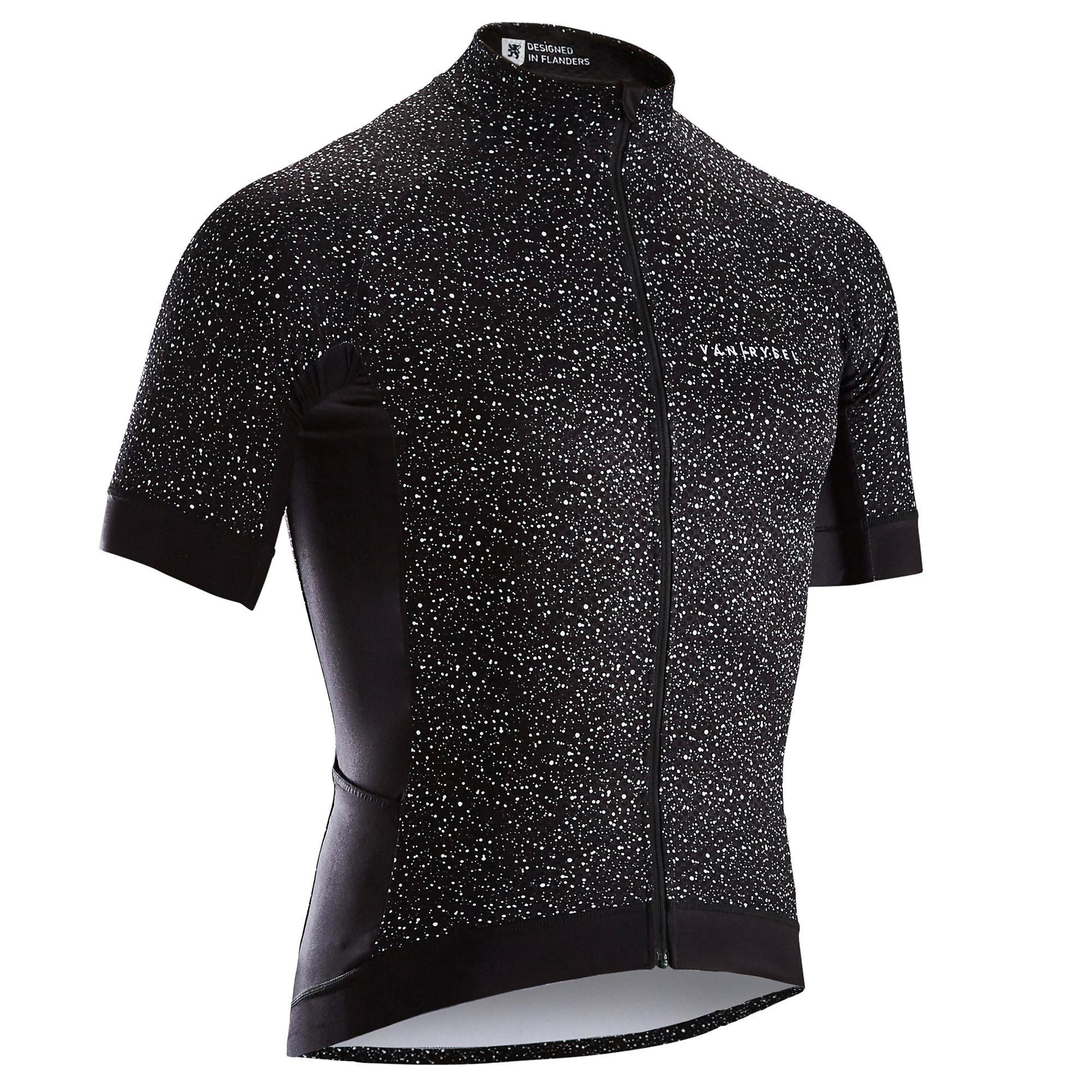 Maillot velo route ete homme cyclosport noir dripping van rysel