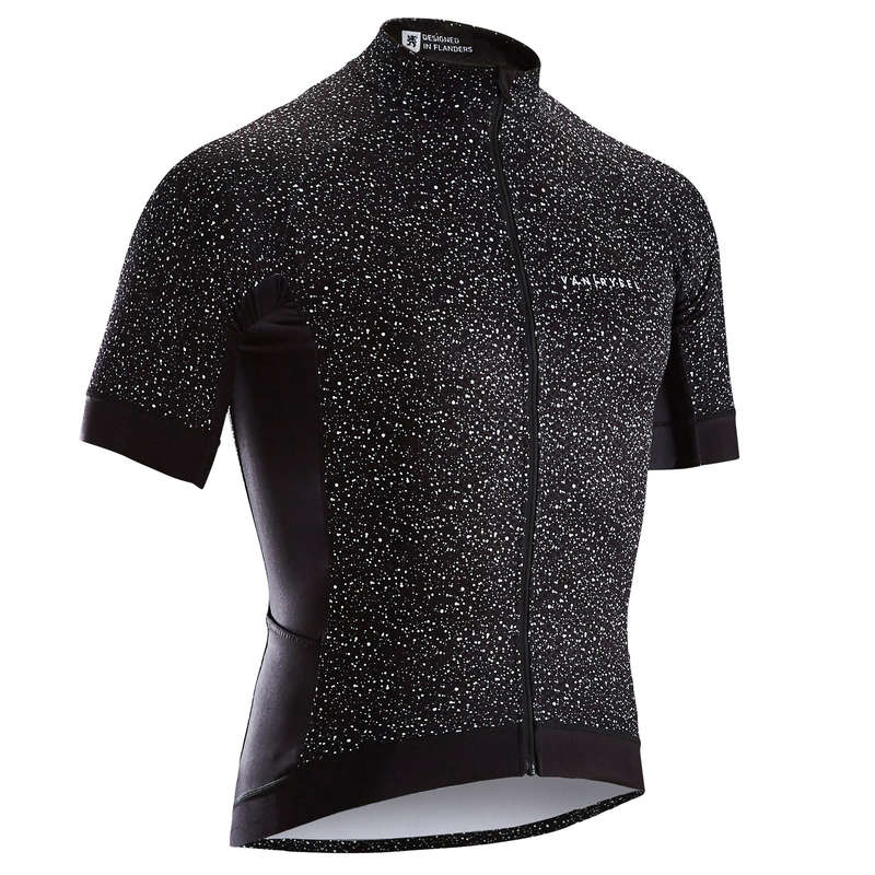 MEN WARM WEATHER ROAD RACING APPAREL Cycling - RR 900 Short Sleeve Cycling Jersey - Speckled Black VAN RYSEL - Cycling