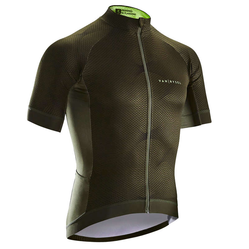 MEN WARM WEATHER ROAD RACING APPAREL Cycling - RR 900 Short Sleeve Road Jersey - Green VAN RYSEL - Cycling