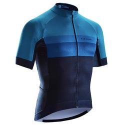 Wielershirt RR500 korte mouwen voor heren blauw/donkerblauw