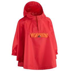 Regenponcho voor wandelen kinderen MH100 rood 2-6 jaar