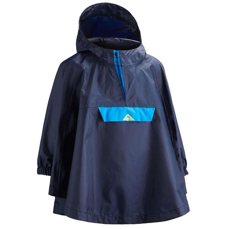 JAKNE IN HLAČE ZA DEČKE OD 2 DO 6 LET Šola se začenja - Pohodniška pelerina MH100 QUECHUA - Oblačila za deževno vreme