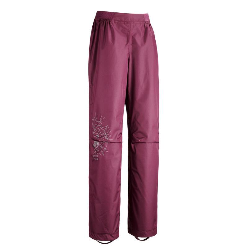 Surpantalon de randonnée - MH500 violet - enfant 7-15 ans