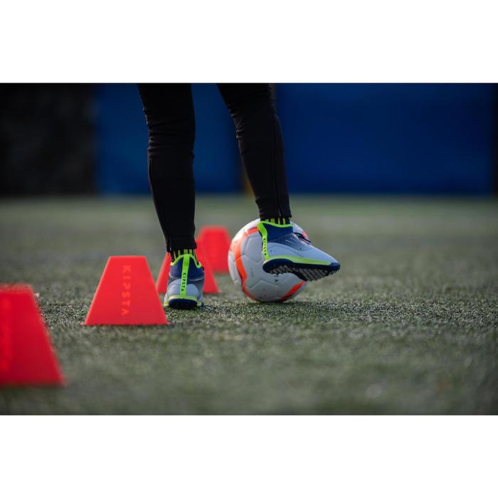 Botas de fútbol júnior de caña alta para terrenos duros AGILITY500 gris amarillo