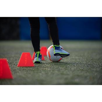 Fußballschuhe Multinocken Agility 500 HG Kinder grau/gelb