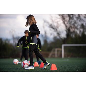 Botas de fútbol júnior caña alta para terrenos duros AGILITY 500 azul negro
