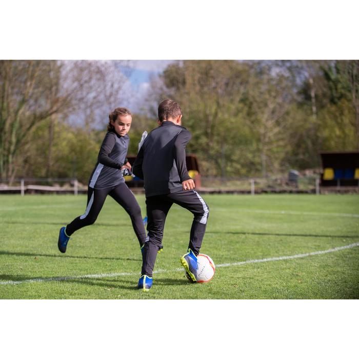 Trainingshose Fussball TP 900 Kinder schwarz/dunkelgrau