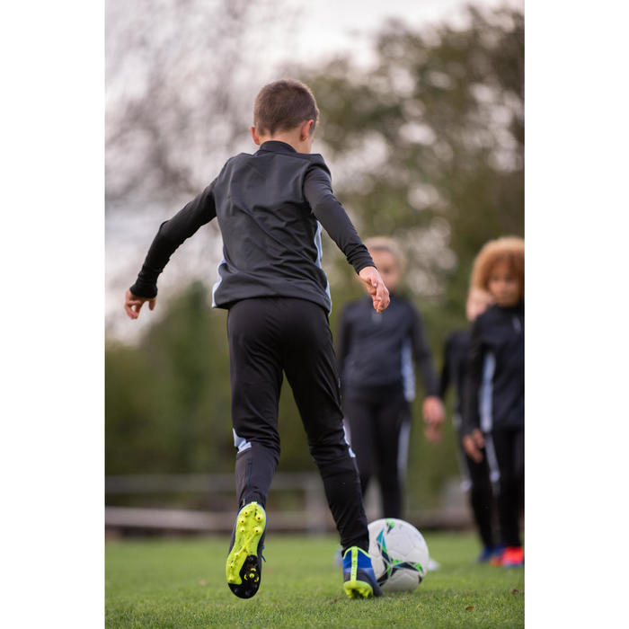 Trainingsbroek voor voetbal kinderen TP 900 zwart/donkergrijs.