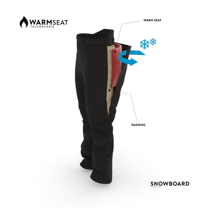 Pantalón snowboard y esquí hombre SNB PA 500 negro