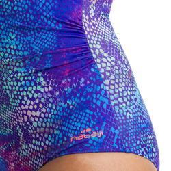 Bañador Moldeador Aquagym Piscina Nabaiji Karli Mujer Efecto Vientre Azul Indigo
