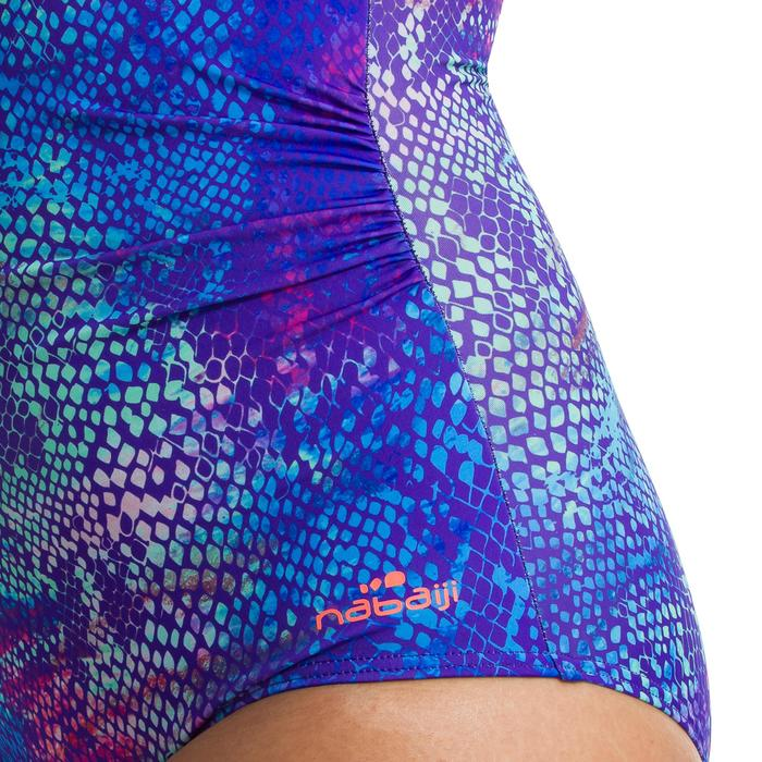 Bañador moldeador de aquagym para mujer Karli Snake azul