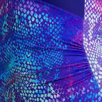 Karli One-Piece Women's Body-Sculpting Aquafitness Swimsuit - Snake Blue