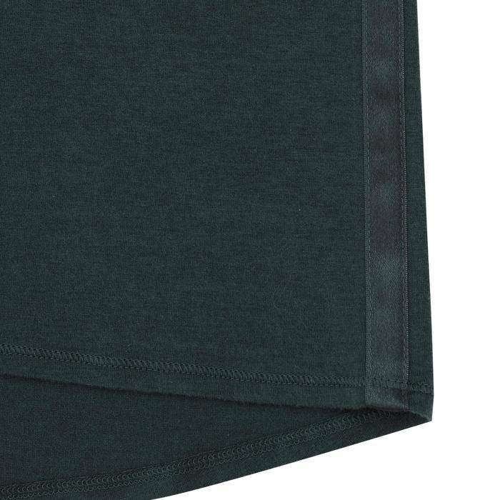 女款舒緩瑜珈有機棉T恤 - 綠色