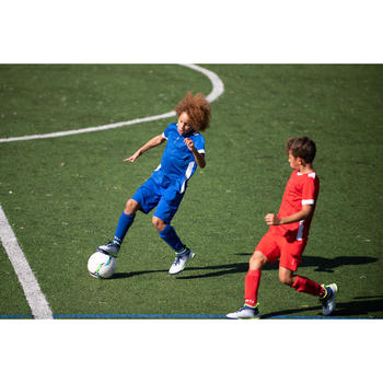 青少年款足球短褲F500-藍色