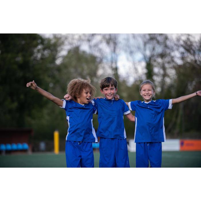 Voetbalshort voor kinderen F500 blauw