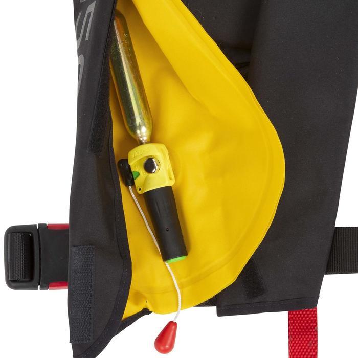 Opblaasbaar reddingsvest voor volwassenen LJ 150N Air zwart