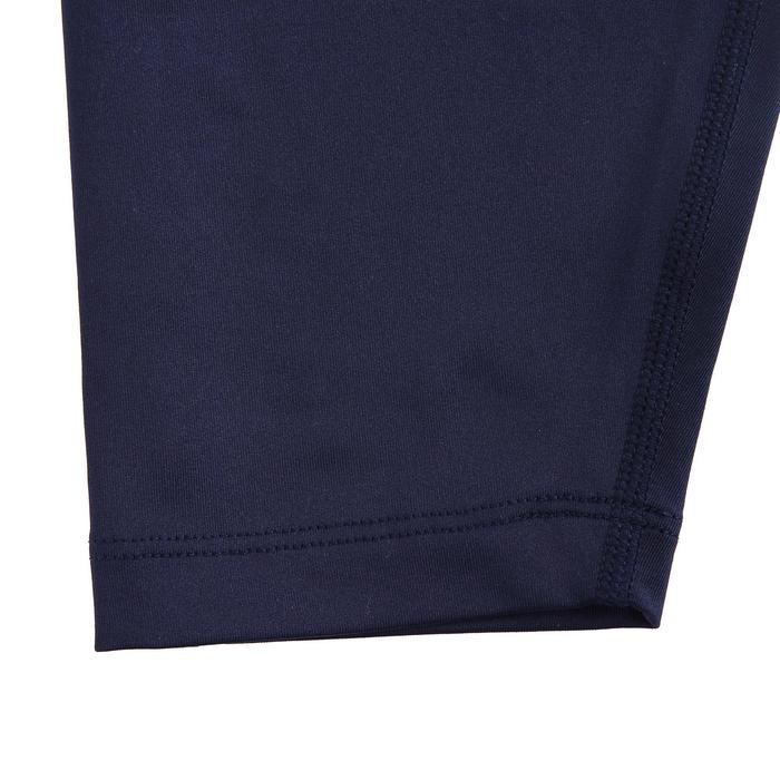 交叉訓練無縫緊身褲-軍藍色