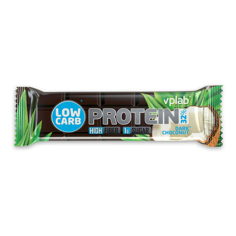 ПРОТЕИНЫ, БИОЛОГИЧ АКТИВ ДОБАВКИ Спортивное питание - Батончик LowCarb 35 г шоколад VPLAB - Спортивное питание