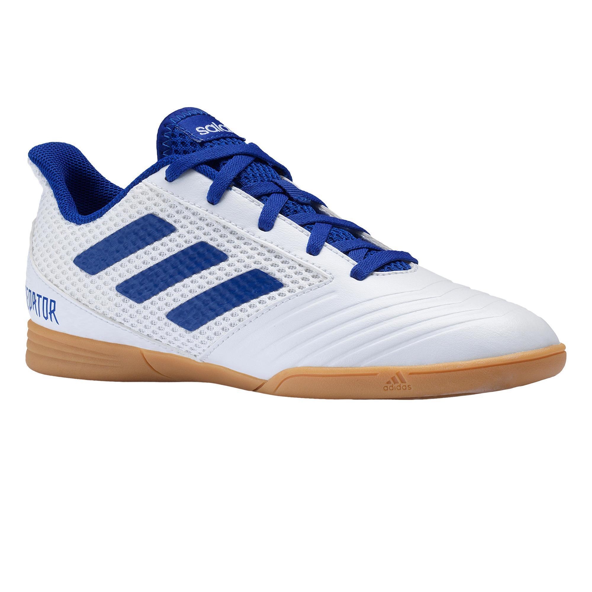 Adidas Zaalvoetbalschoenen kind Predator Tango 19.4 wit/blauw