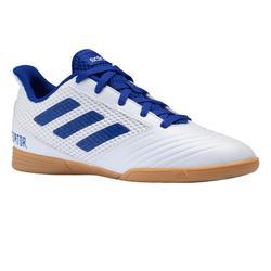 Zaalvoetbalschoenen kind Predator Tango 19.4 wit/blauw