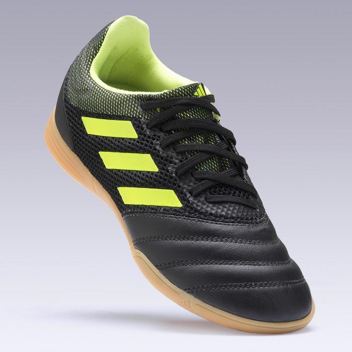Hallenschuhe Futsal Fußball Copa 19.3 Kinder schwarz/gelb