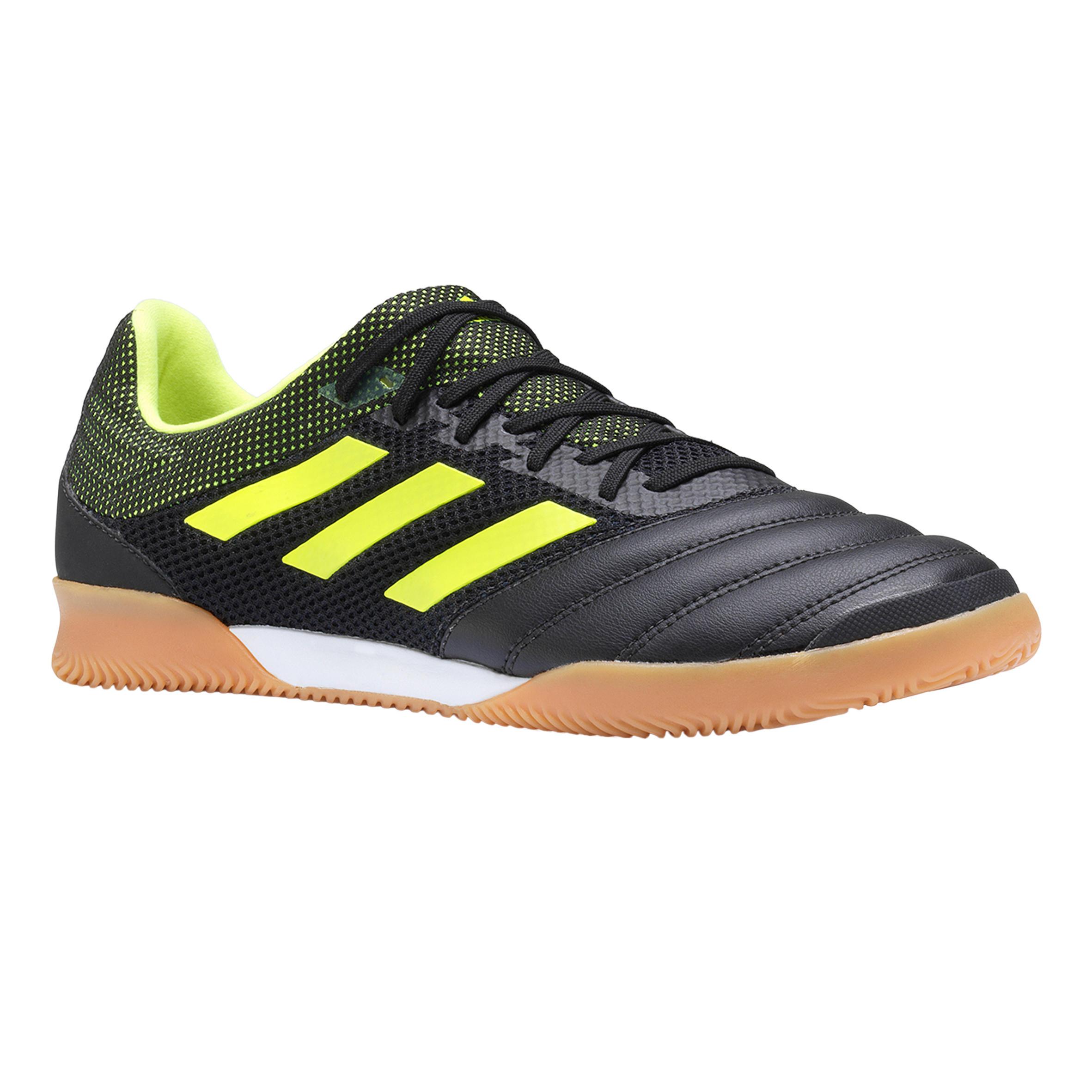 Hallenschuhe Futsal Fußball Copa 19.3 Erwachsene schwarz/gelb | Schuhe > Sportschuhe > Hallenschuhe | Schwarz - Gelb | Adidas