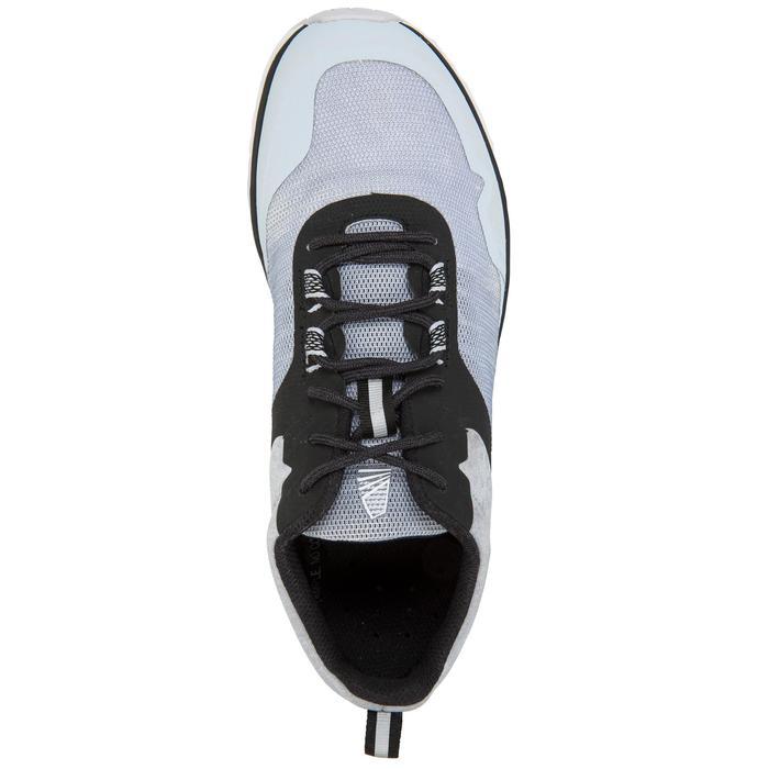 Dekschoenen voor wedstrijdzeilen uniseks grijs/zwart