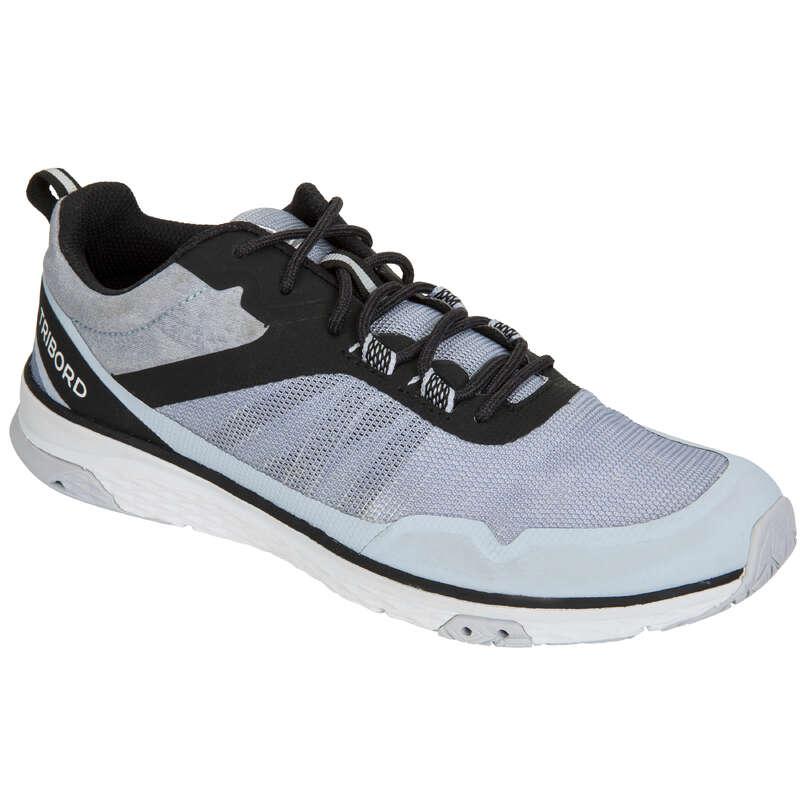 ДАМСКИ ОБУВКИ ЗА ВЕТРОХОДСТВО Ветроходно плаване - Обувки за плаване Race, сиви TRIBORD - Жени