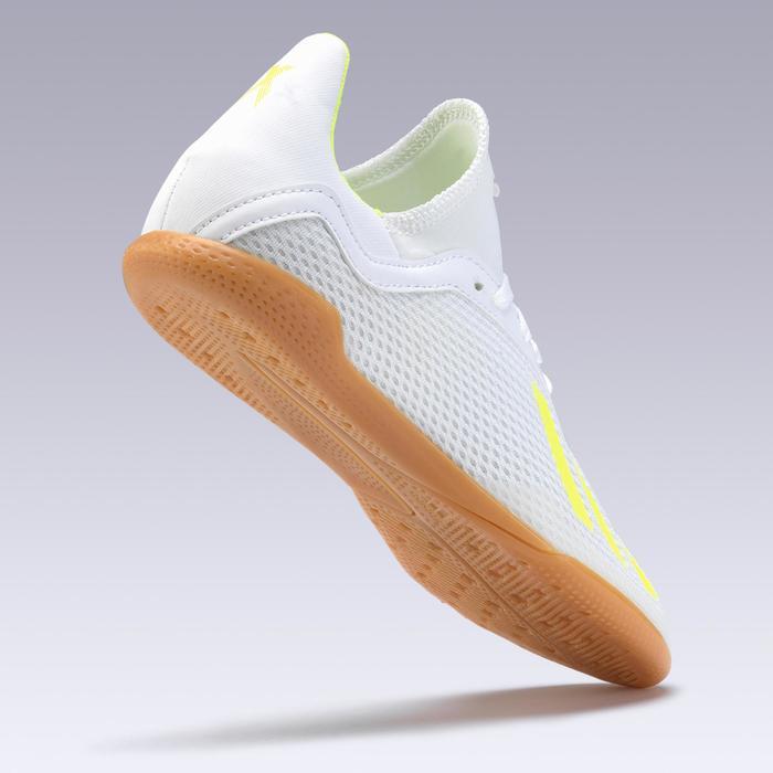 Hallenschuhe Futsal Fußball X Tango 19.3 Kinder weiß/gelb