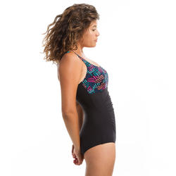 Mary Atch Women's One-Piece Body-Sculpting Aquagym Swimsuit