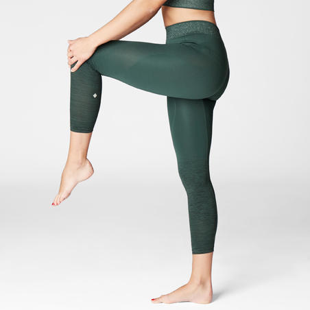 Legging Yoga Seamless 7/8 - Hijau Gelap