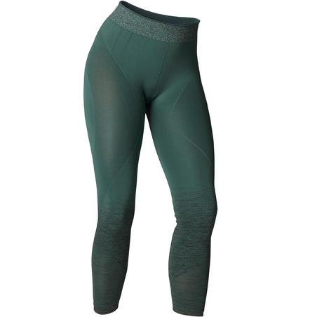 Seamless 7/8 Yoga Leggings - Dark Green