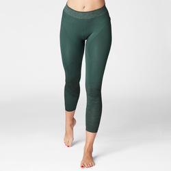 legging 7/8 yoga sans coutures vert fonce