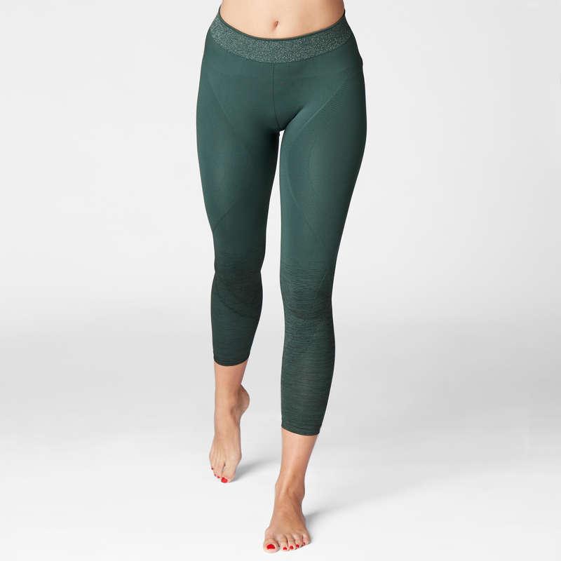 WOMAN YOGA APPAREL Fitness and Gym - Seamless 7/8 Yoga Leggings DOMYOS - Gym Activewear