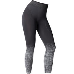 Seamless 7/8 Yoga Leggings - Black/Silver
