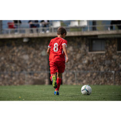 Short de football enfant F500 rouge