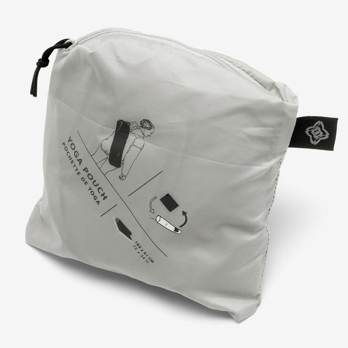 瑜珈墊收納袋 - 淺灰色