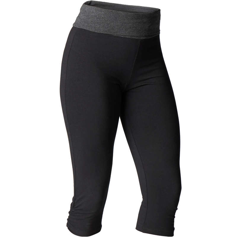 WOMAN YOGA APPAREL - Women's Yoga Cropped Bottoms DOMYOS