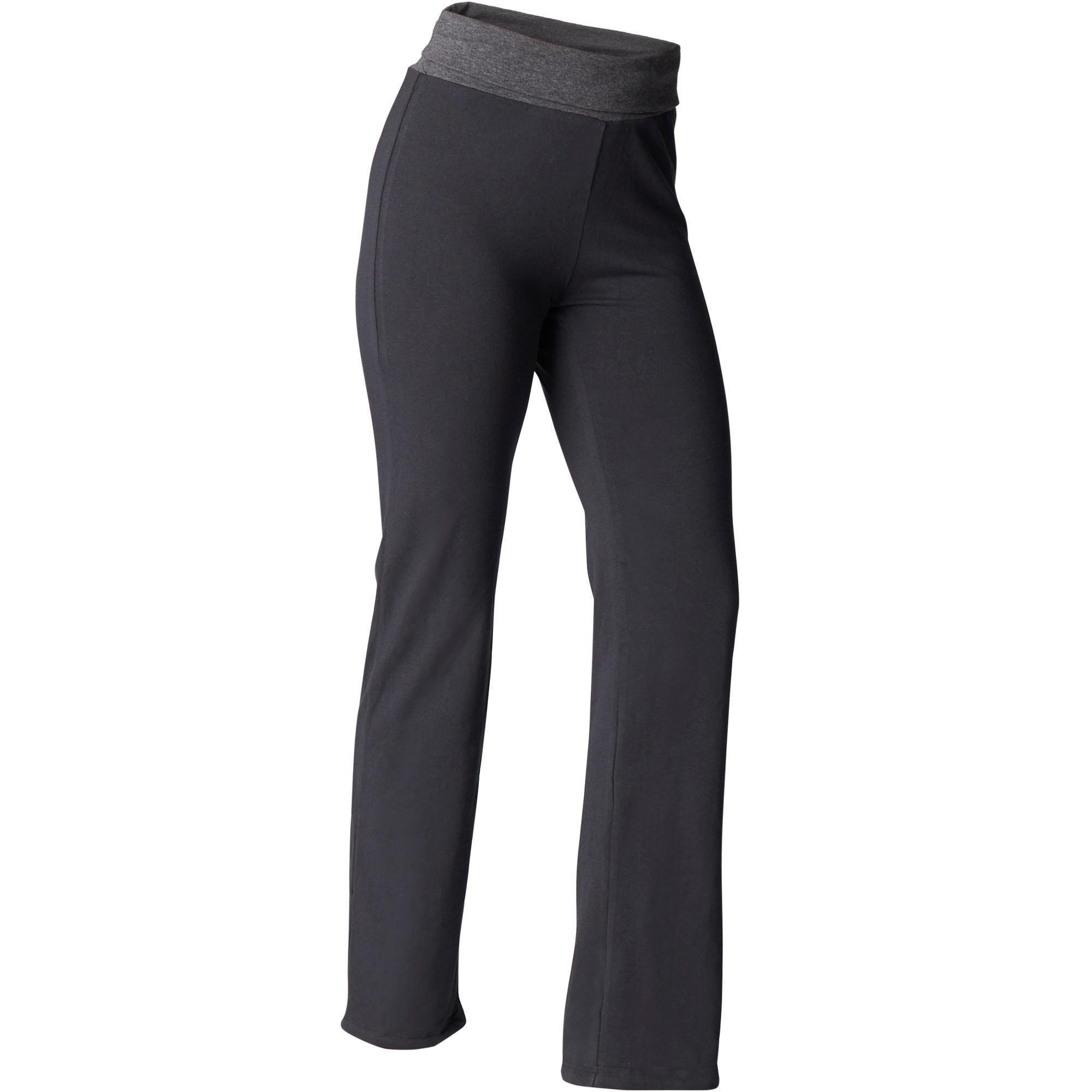 Nouveau Yoga Leggings Deux Tons Rose Noir Entraînement Fitness Pantalon une Taille Repliée