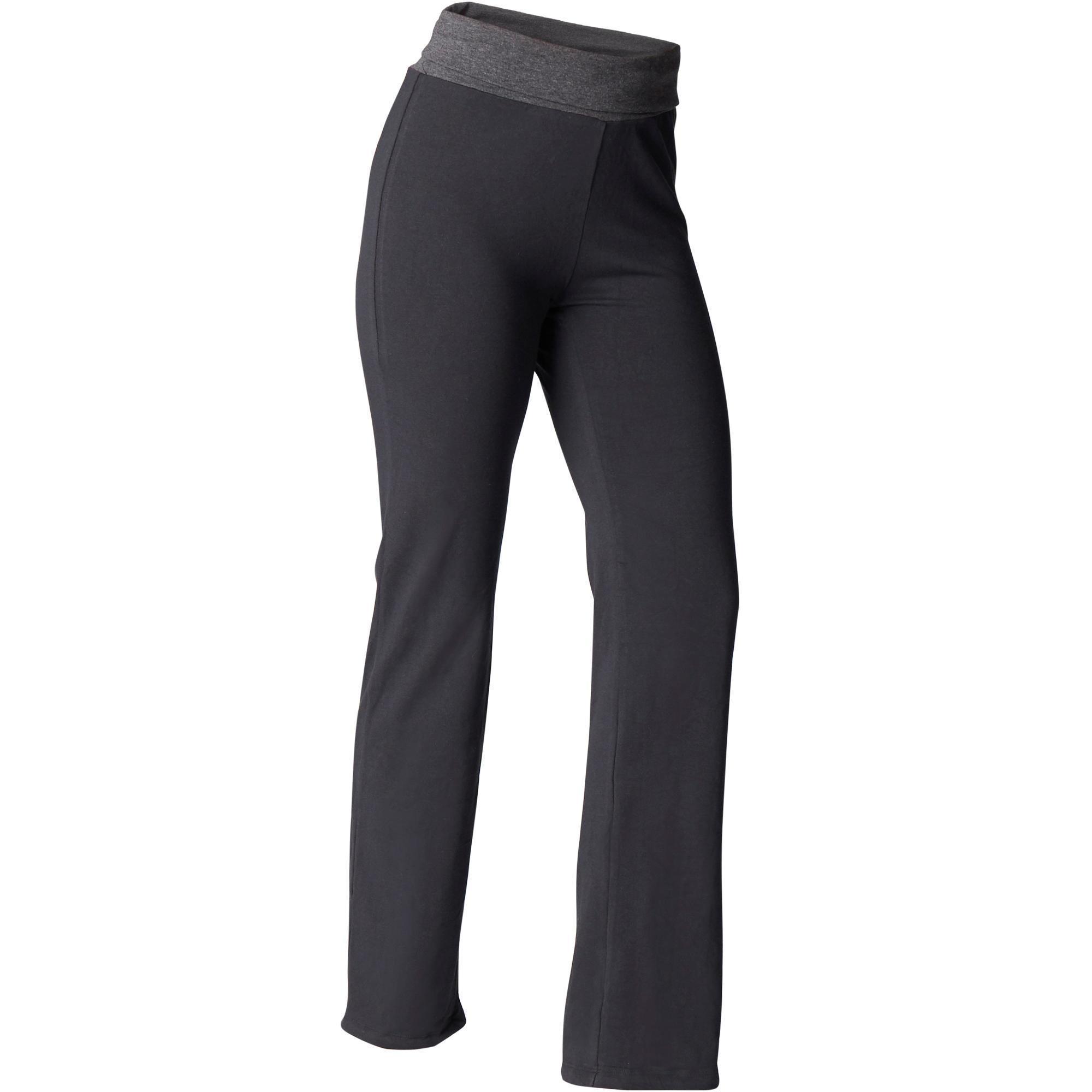 Yogahose sanftes Yoga aus Baumwolle aus biologischem Anbau Damen | Sportbekleidung > Sporthosen > Yogahosen | Domyos