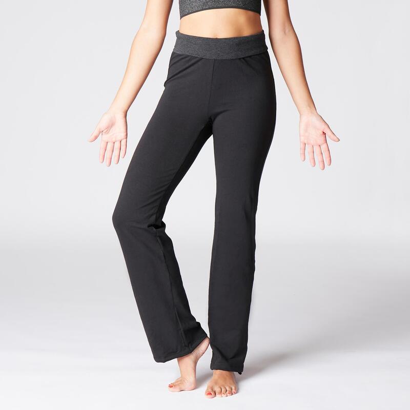 Pantalones anchos comfort yoga embarazada ecofriendly negro gris