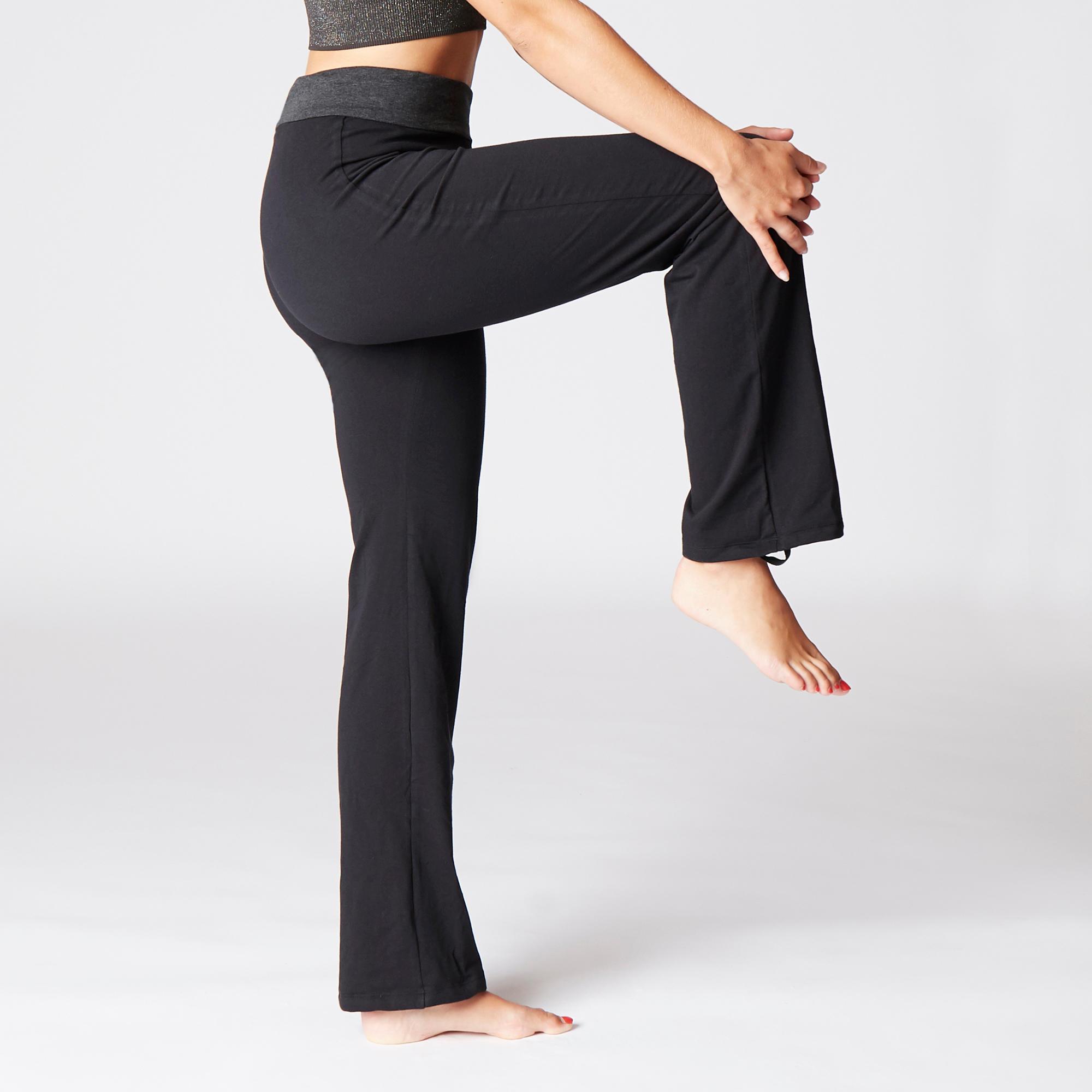 Women's Organic Cotton Gentle Yoga Bottoms - Black/Grey