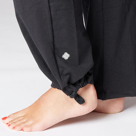 Women's Organic Cotton Gentle Yoga Bottoms - Black/Grey