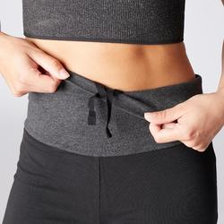 Mallas Deportivas Pantalones Premamá Yoga Domyos 100 Reg Algodón Bio Mujer negro