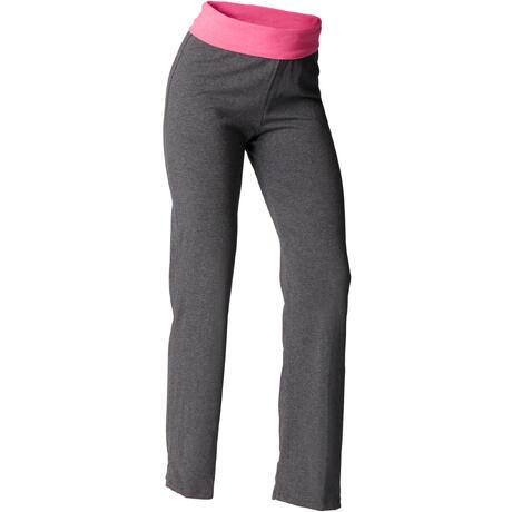 Rose Pantalon Yoga Issu Doux Femme Coton En De Gris L'agriculture Biologique CPnqTxC
