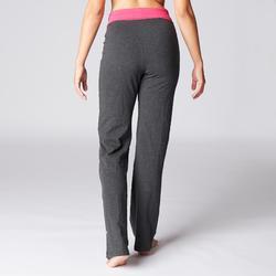 Mallas Deportivas Pantalones Premamá Yoga Domyos 100 Reg Algodón Bio Mujer rosa