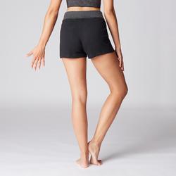 Women's Organic Cotton Gentle Yoga Shorts - Black/Grey