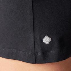 Women's Organic Cotton Gentle Yoga Shorts - Black/Mottled Grey
